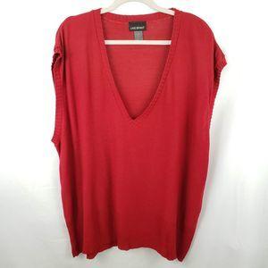 Lane Bryant Sleeveless V-Neck Sweater Size 22/24